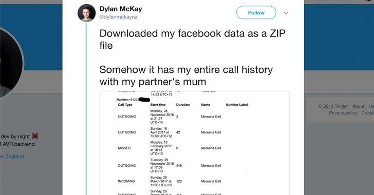 Facebook recolectó tu historial de llamadas de Android y los datos de los SMS durante años