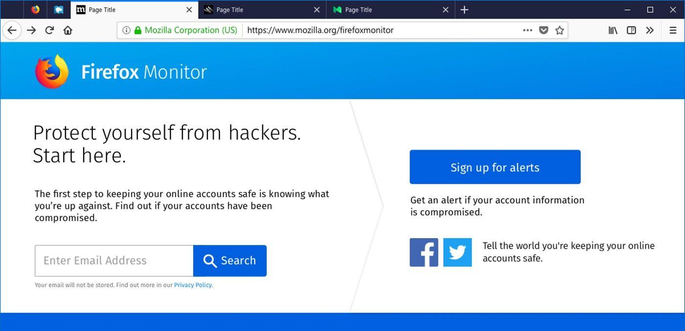 Firefox Breach Alerts advertirá a los usuarios si visitan un sitio hackeado