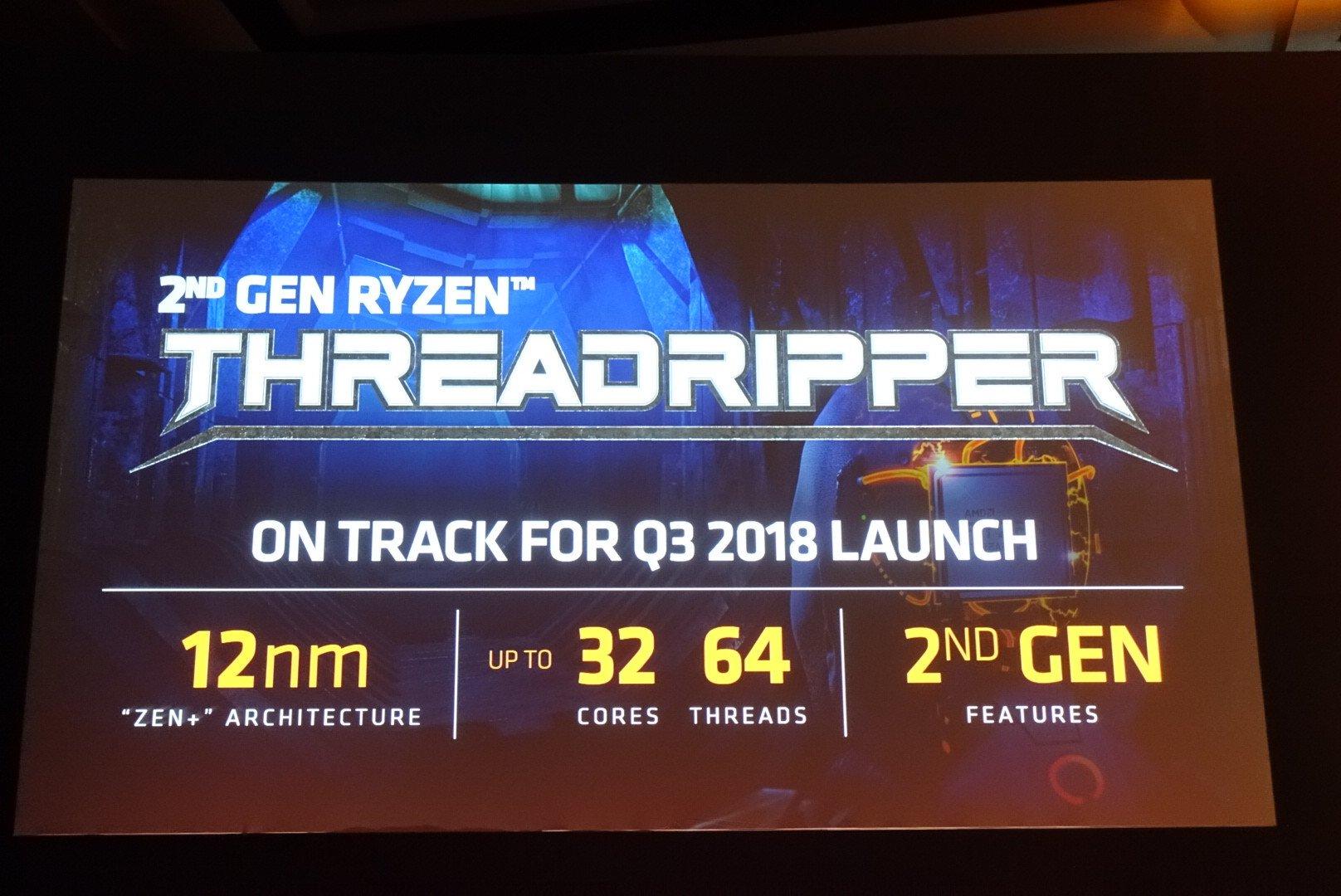 AMD anuncia Threadripper 2: 32 núcleos, 64 hilos, 250W TDP
