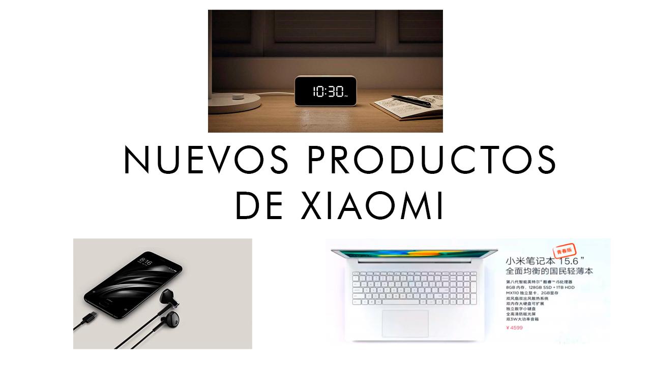 Xiaomi presenta un nuevo portátil, unos auriculares y un despertador