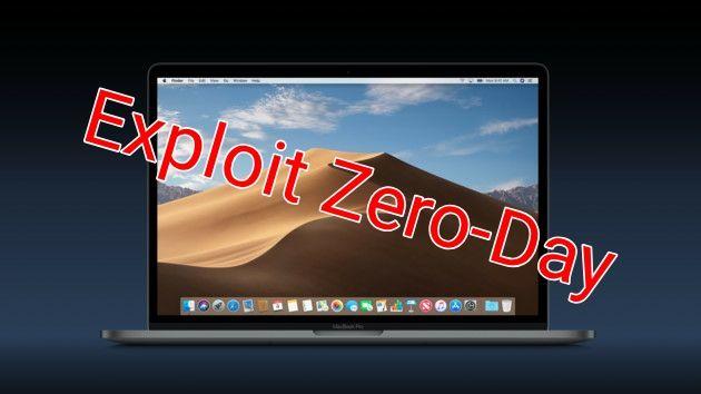 Exploit Zero-day en Mojave permite a un atacante copiar tus datos privados