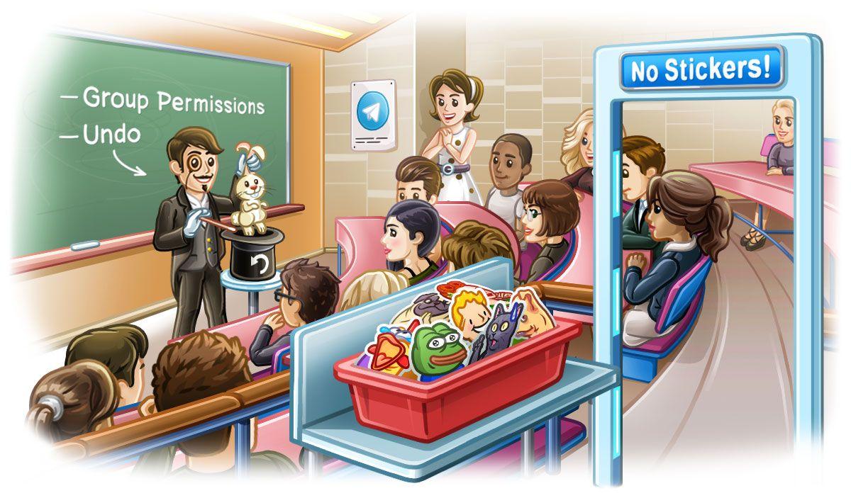 Telegram 5.2: Permisos de Grupo, 200,000 miembros por grupo y más