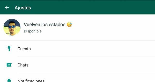 Vuelven los antiguos estados a Whatsapp