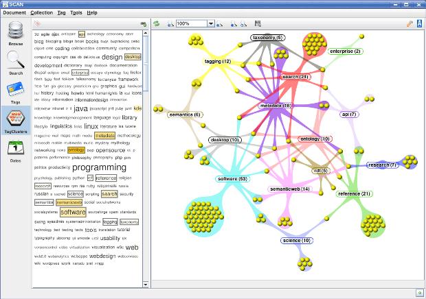 Herramienta para escanear metadatos y agruparlos en una nube de tags