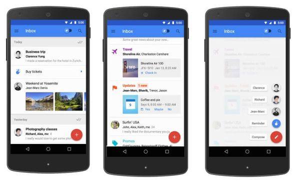 Inbox la nueva app de Gmail de Google se actualiza