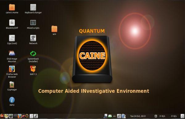 """CAINE 9.0 """"Quantum"""": La nueva versión de la distro de análisis forense digital"""