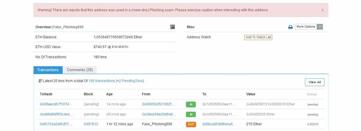 Hacker piratea el servidor DNS de MyEtherWallet para robar 160000 dólares