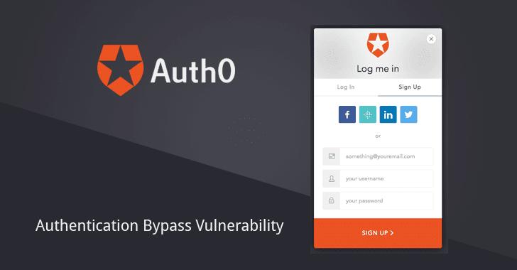 Vulnerabilidad de omisión de autenticación encontrada en Auth0
