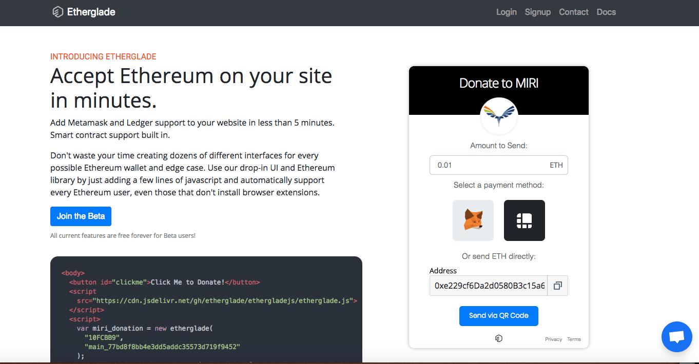 Acepta donaciones de Ethereum en tu sitio web en minutos
