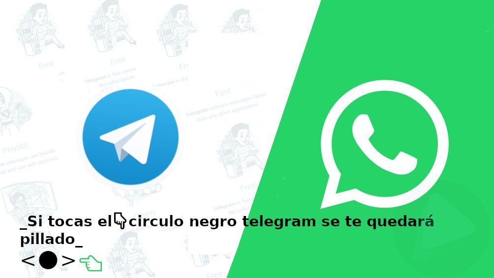 ¿Cómo funciona el bóton negro de Whatsapp/Telegram?