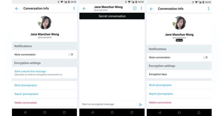 Twitter está probando el envío de mensajes directos cifrados de extremo a extremo