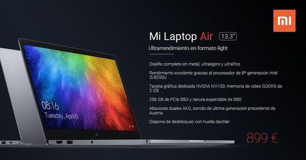 Xiaomi lanza el Mi Laptop Air en España