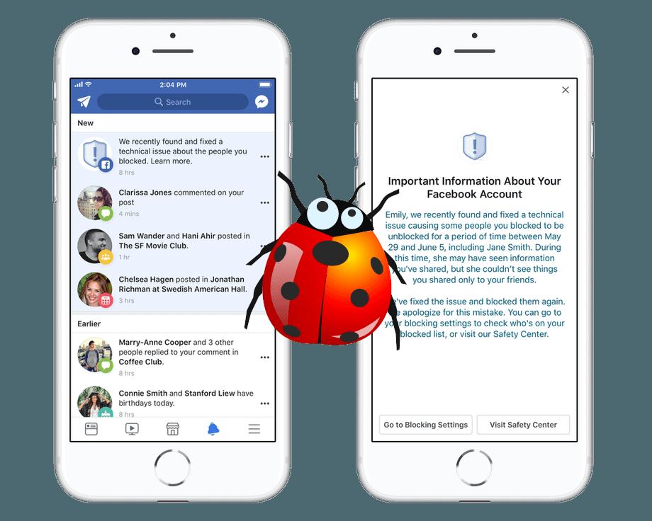 Bug de Facebook desbloquea aleatoriamente a algunos usuarios de las listas de bloqueo personales