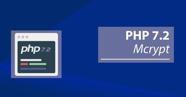 Cómo instalar mcrypt en PHP 7.2