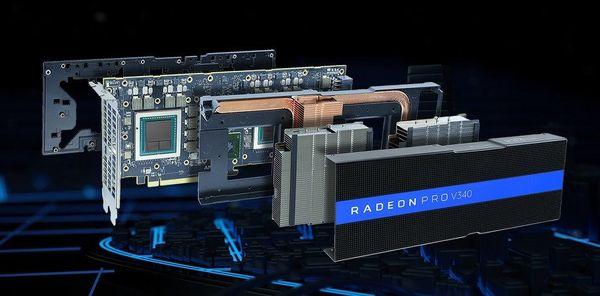 AMD anuncia la tarjeta Dual-Vega Radeon Pro V340 con 32 GB de memoria ECC HBM