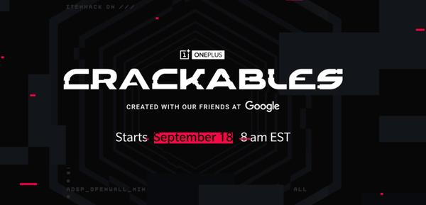 Crackables el nuevo reto de OnePlus que comenzará el 18 de septiembre