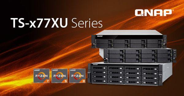 El poder de Ryzen llega a la serie TS-x77XU del rack NAS de QNAP