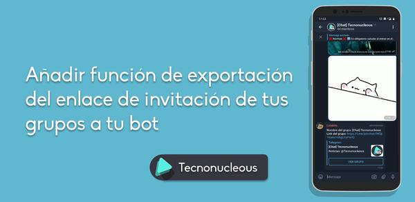 ¿Cómo implementar la función de exportar el link de un grupo de Telegram en tu bot?