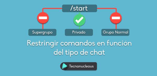 Restringir uso de comandos en supergrupos y chat privado de tu bot de Telegram