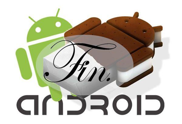 Finalizado el soporte de Android Ice Cream Sandwich (API 14 y 15)