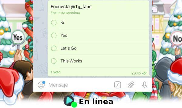 Novedades Telegram: Encuestas nativas, usuarios en línea y más