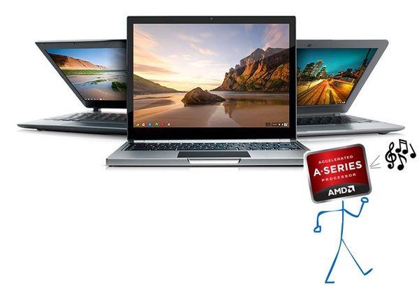 Los procesadores AMD están llegando a los Chromebook