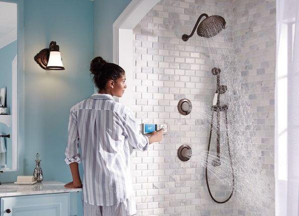 Moen Shower: Ducha inteligente compatible con los asistentes de voz