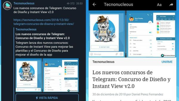 ¿Qué son las Instant View de Telegram?
