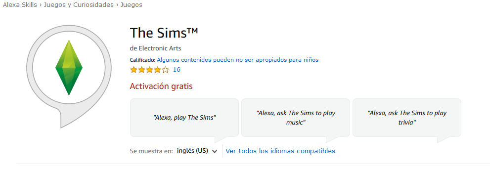 Los Sims llegan a Alexa en forma de Skill